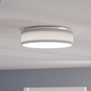 Best Reviews Benning 1-Light LED Flush Mount By Mercury Row