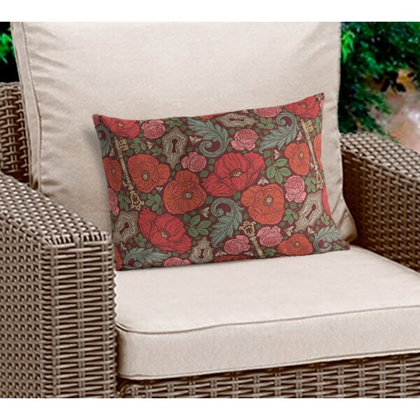 Alisson Floral Lumbar Pillow