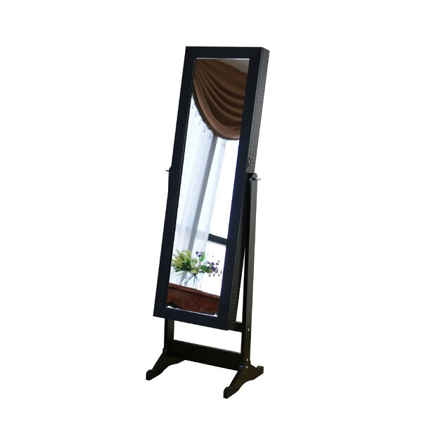 Nazario Jewelry Armoire with Mirror by House of Hampton House of Hampton