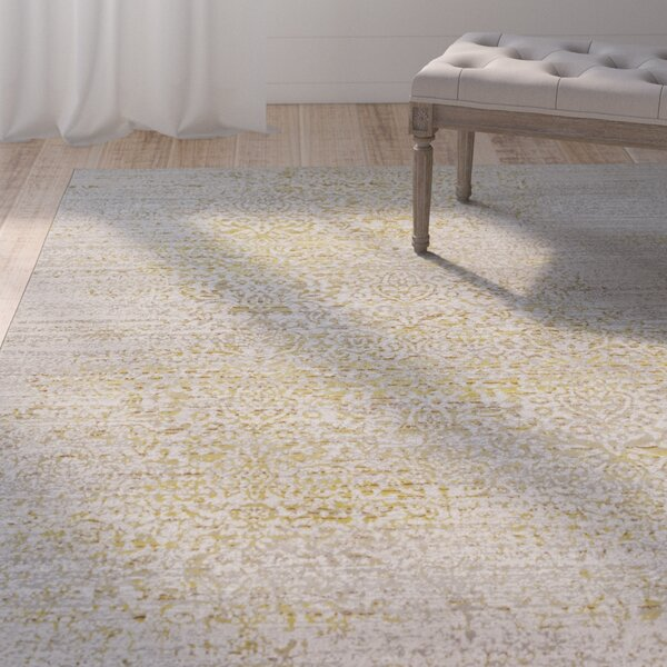 Chesler Yellow Area Rug by Ophelia & Co.