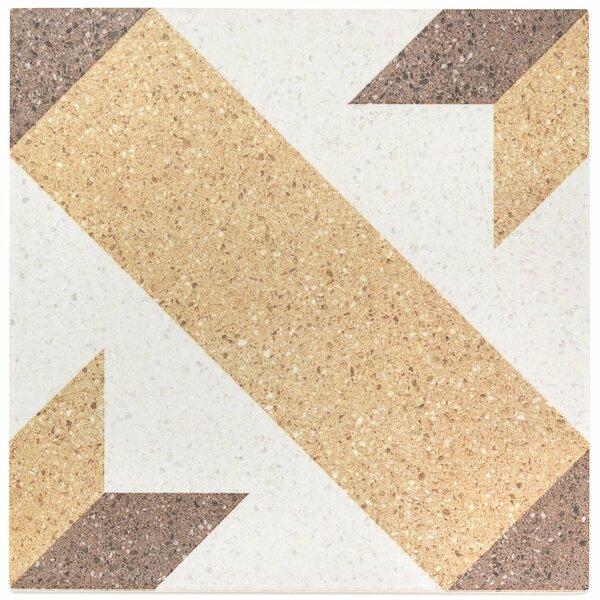 Branwell 9 x 9 Porcelain Field Tile in Munch by Splashback Tile