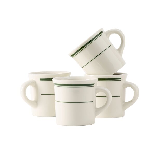 Green Bay Mug (Set of 4) by Tuxton Home