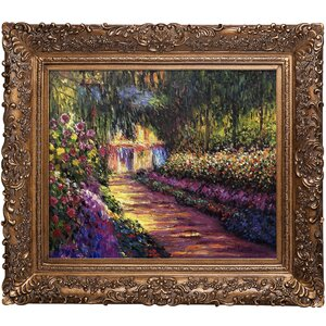 'Pathway in Monet's Garden at Giverny' by Claude Monet Framed Painting Print by Fleur De Lis Living