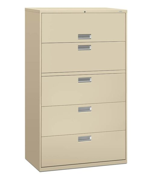 Brigade 600 Series 5-Drawer Lateral Filing Cabinet by HON