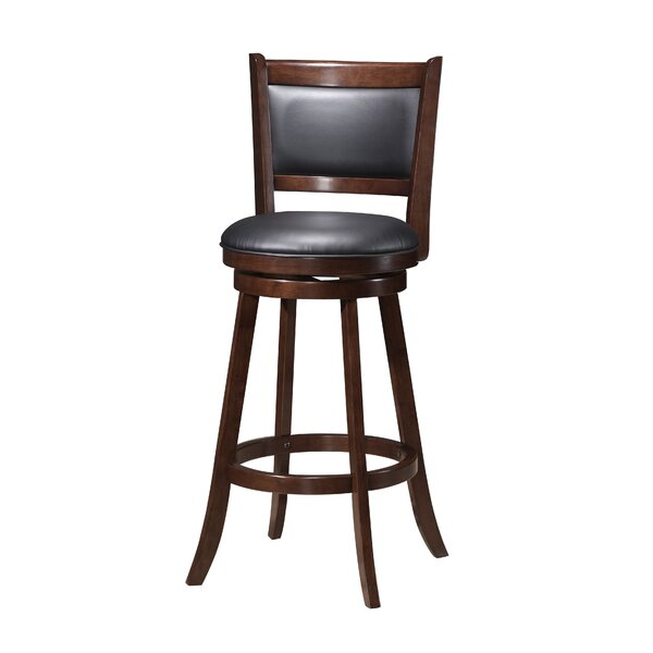 Tuthill Wooden Swivel Bar Stool by Red Barrel Studio
