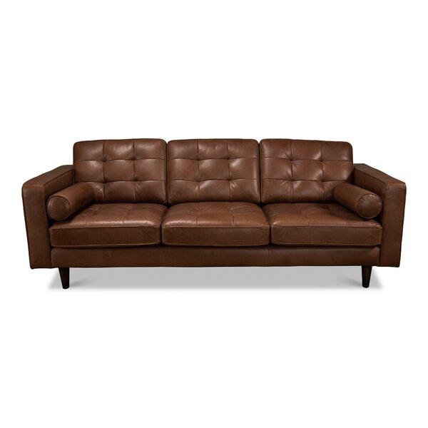 Barrasso Leather Sofa By Latitude Run