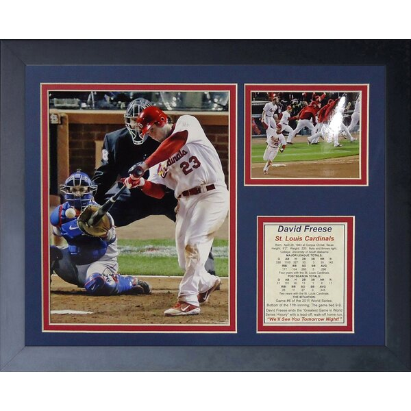 David Freese 2011 HR Swing Framed Memorabilia by Legends Never Die