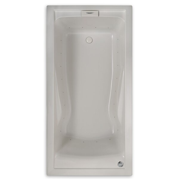 Evolution 74.75 x 38.5 Everclean Air Bathtub by American Standard