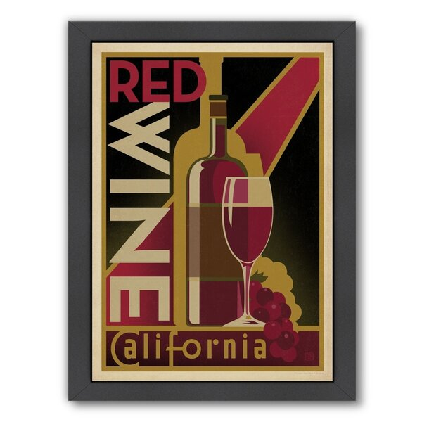 Wine Red Wine Framed Vintage Advertisement by East Urban Home