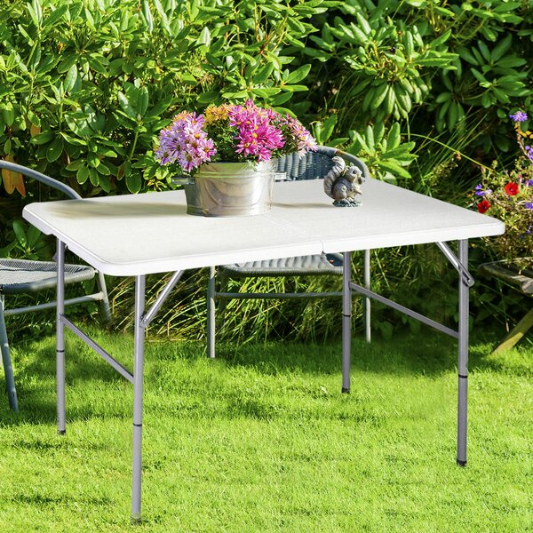 Portable 48 Rectangular Folding Table by Costway