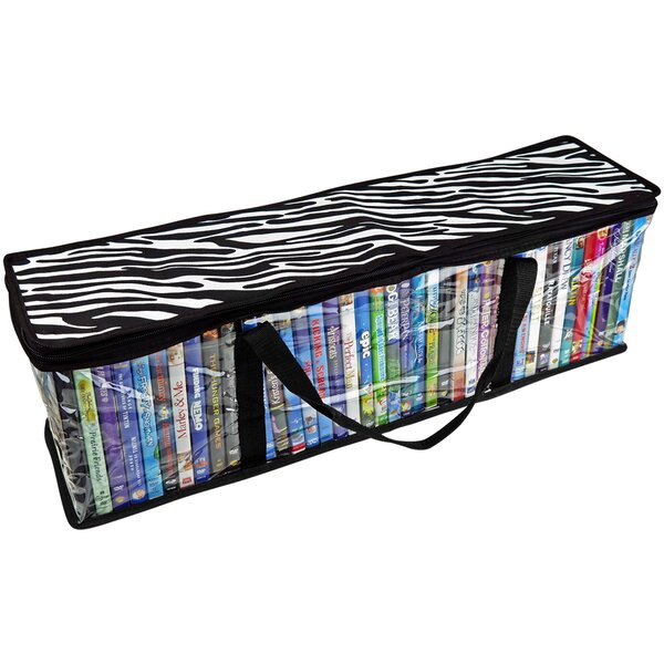 CD Sturdy Storage Bags Carrying Handles- S/2-Total 96 CD's Media Bag (Set Of 2) By Rebrilliant
