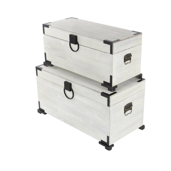 2 Piece Wood Trunk by Cole & Grey