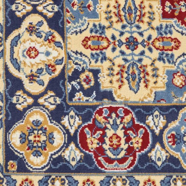 Pomerleau Bohemian Brown/Blue Area Rug by World Menagerie