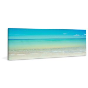 'Scenic Beach' by Parvez Taj Painting Print on Wrapped Canvas by Beachcrest Home