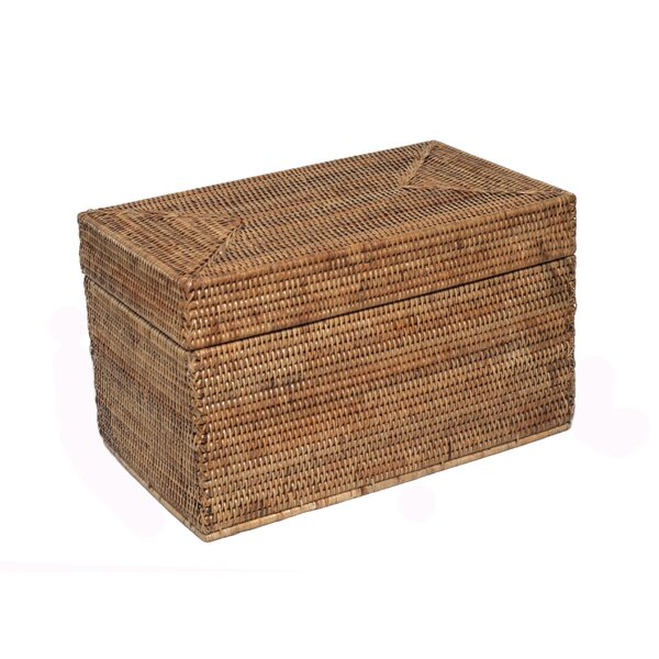 Rattan Medium Rectangular Hinged Trunk by artifact