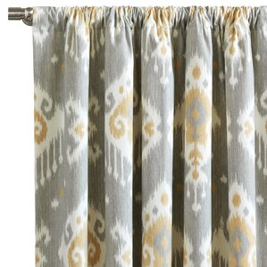 downey ikat semisheer rod pocket single curtain panel