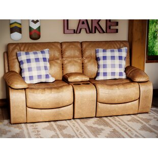 El Capitan Double Motion Console Reclining Sofa Loon Peak