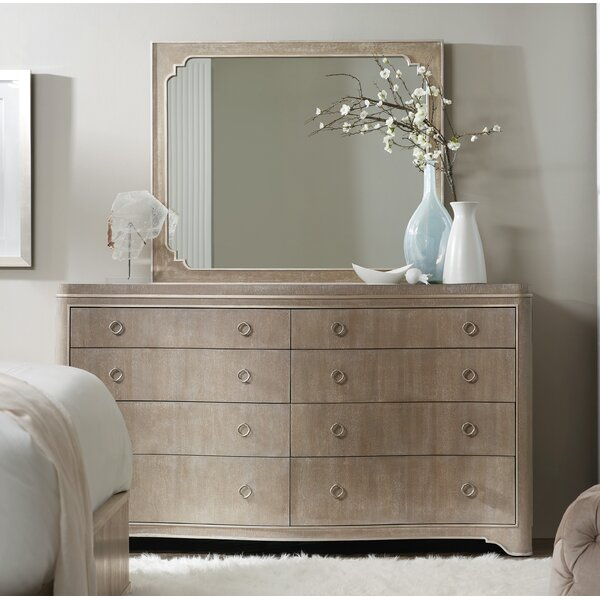 Romance 8 Drawer Double Dresser With Mirror By Hooker Furniture by Hooker Furniture 2020 Sale