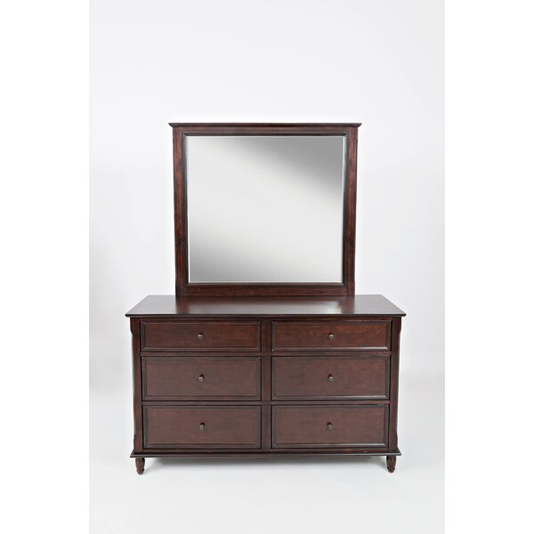 Parkridge 6 Drawer Double Dresser with Mirror by Alcott Hill