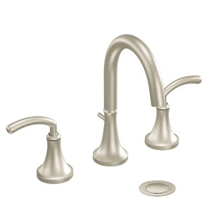 Read Reviews Icon Widespread High Arc Bathroom Faucet with Optional Pop-Up Drain By Moen