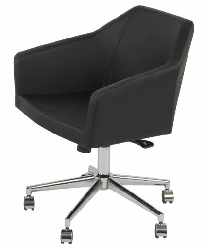 Mercer Leather Desk Chair by Nuans