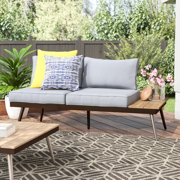 Bendale Contemporary Loveseat with Cushion by Brayden Studio