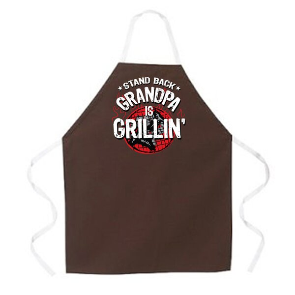 Grandpa is Grillin Apron by Attitude Aprons by L.A. Imprints