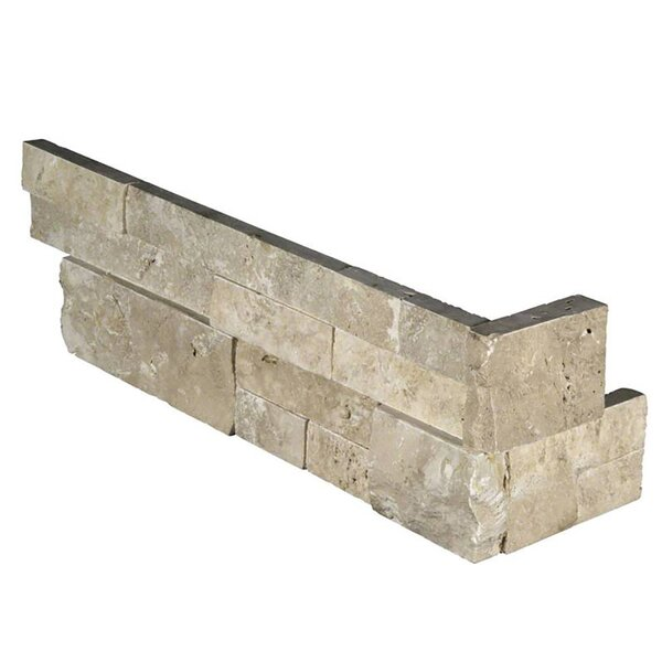 Durango 6 x 18 Travertine Splitface Tile in Beige by MSI