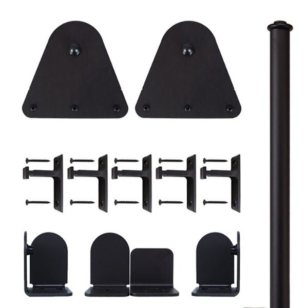 Triangle Barn Door Hardware Kit by Quiet Glide