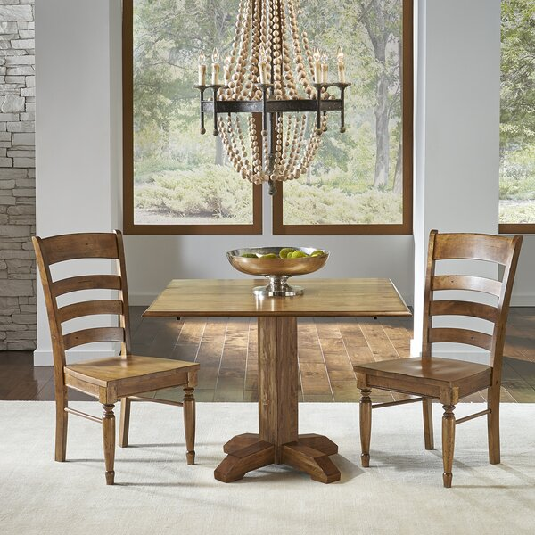 Ian Drop Leaf Solid Wood Dining Table (Set of 2) by One Allium Way