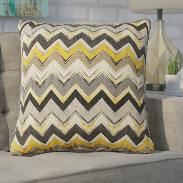 Drumheller Chevron Indoor/Outdoor Throw Pillow by Brayden Studio