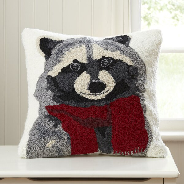 Roberto Raccoon Hooked Pillow by Birch Lane Kids™