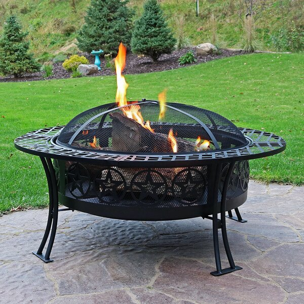 Bowl Steel Wood Fire Pit by Wildon Home ®