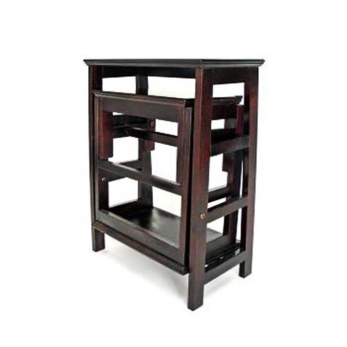 Wayborn 3 Step Wood Retractable Step Stool With 200 Lb