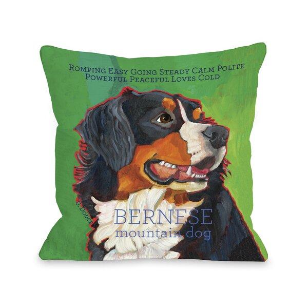Doggy Décor Bernese Mountain Dog Throw Pillow by One Bella Casa
