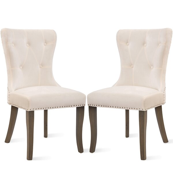 Sandhurst Upholstered Dining Chair (Set of 2) by Ophelia & Co.