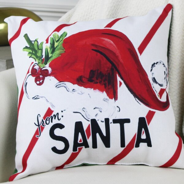 From Santa Hat Throw Pillow by One Bella Casa