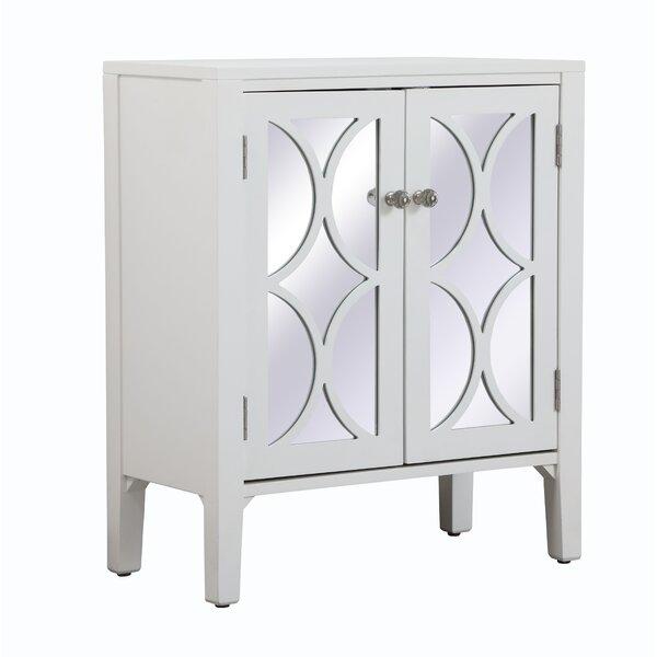 Comerfo 2 Door Mirrored Accent Cabinet