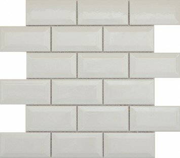 Vogue 2 x 4/12 x 12 Ceramic and Glass Bevel Mosaic Tile in Gray Matte by Emser Tile