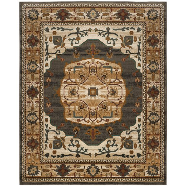 Lowe Beige/White Area Rug by Charlton Home