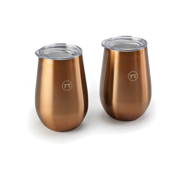 Padmore Double Wall 12 oz. Stainless Steel Drink Tumbler (Set of 2) by Winston Porter