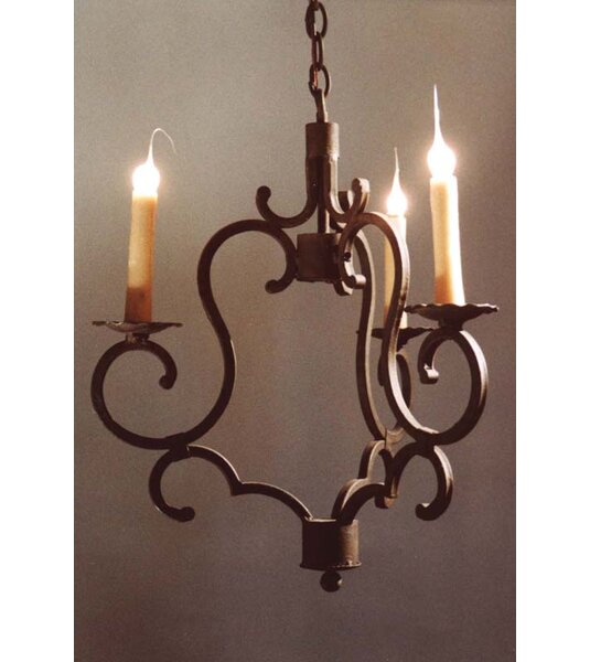 Ryckman 3 - Light Candle Style Wagon Wheel Chandelier by Fleur De Lis Living Fleur De Lis Living