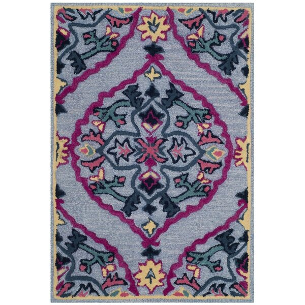 Blokzijl Hand-Tufted Blue Area Rug by Bungalow Rose