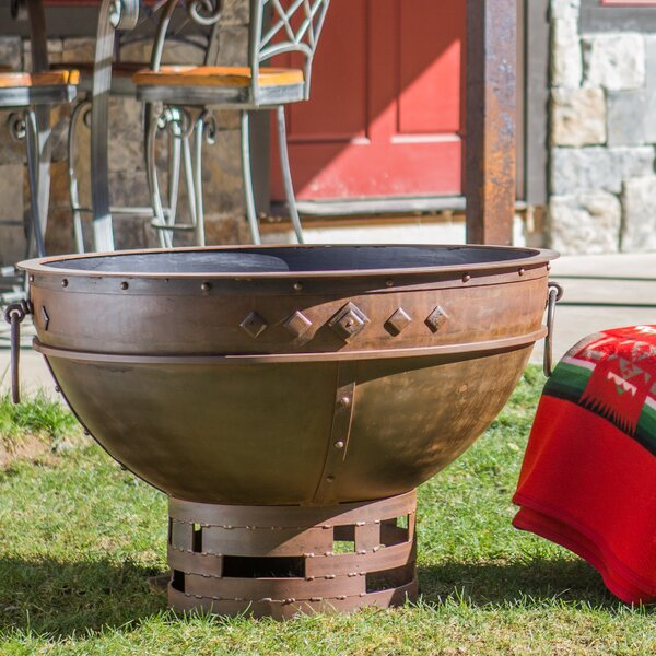 Greek Brazier Steel Fire Pit by Cedar Creek Sculptures