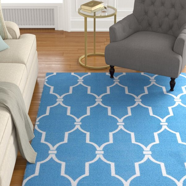 Wright Navy Indoor/Outdoor Area Rug by Charlton Home