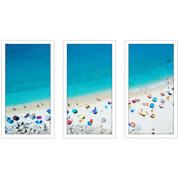 See the Sea 3 Piece Framed Photographic Print Set by Picture Perfect International