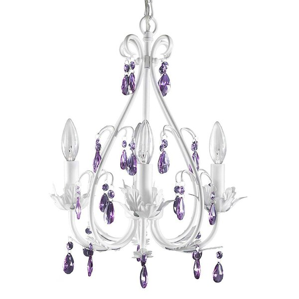 Chingford 4 - Light Candle Style Classic / Traditional Chandelier with Crystal Accents by Harriet Bee Harriet Bee