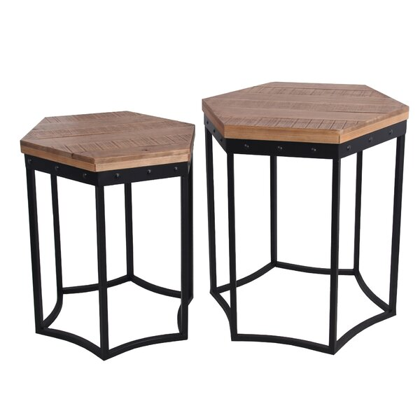 Hoff 2 Piece Nesting Tables by Williston Forge