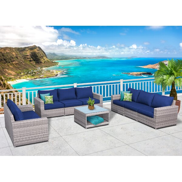 Kordell Olefin 9 Piece Rattan Sofa Seating Group with Cushions by Sol 72 Outdoor
