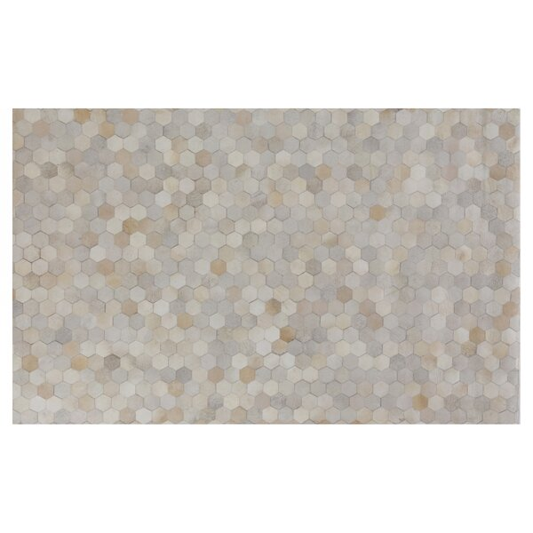 Natural Hide Hand-Tufted Cowhide Ivory/Natural Area Rug by Exquisite Rugs